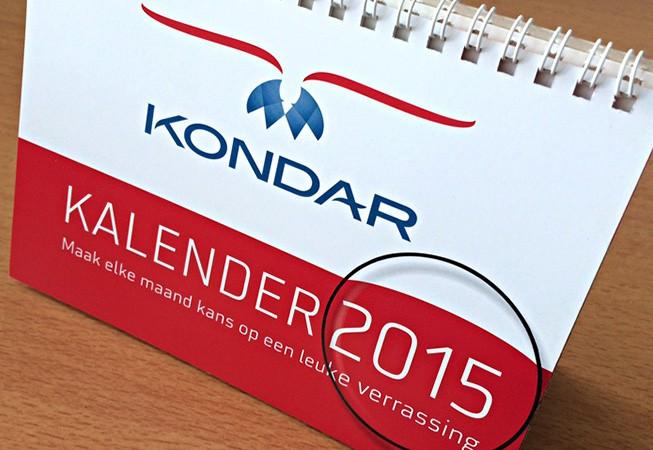 KONDAR kalender voorzijde